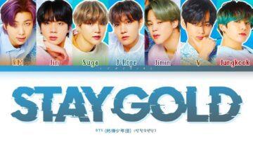 Stay Gold Lyrics - BTS
