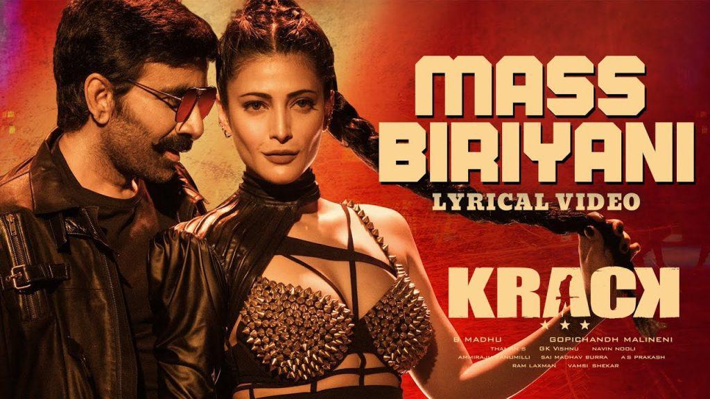 Mass Biriyani Lyrics - Krack