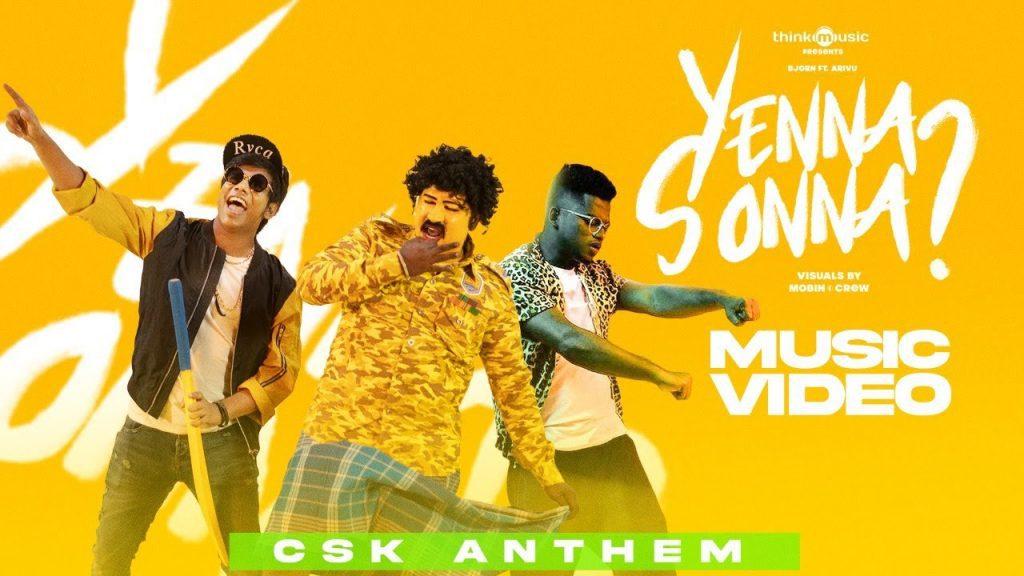 Yenna Sonna Lyrics - Bjorn Surrao ft. Arivu